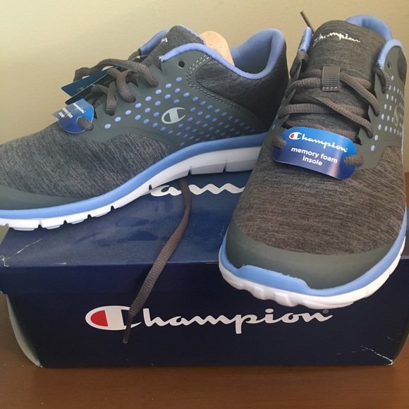 6f54286a97b Blue and gray Champion memory foam gym shoes
